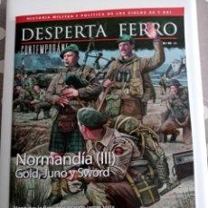 Libros de segunda mano: DESPERTA FERRO CONTEMPORANEA Nº 45 , NORMANDIA ( III ) GOLD, JUNO Y SWORD .. Lote 261259145