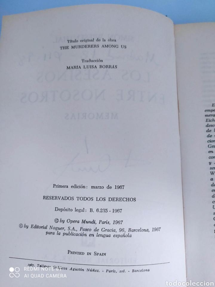 Libros de segunda mano: Memorias. Los asesinos entre nosotros. Simon Wiesenthal. 1ª edicion - Foto 2 - 261831885
