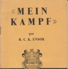 Libros de segunda mano: LIBRITO ... MEIN KAMPF - R. C-K. ENSOR- OXFORD UNIVERSITY PRESS, 1940.. Lote 268953004