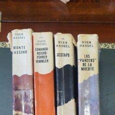 Libros de segunda mano: LOTE DE LIBROS BELICOS,SVEN HASSEL. Lote 272902498
