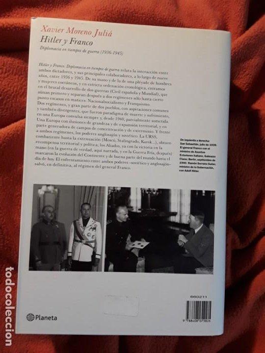 Libros de segunda mano: Hitler y Franco, de Xavier Moreno. Descatalogado. Magnífico estado. - Foto 2 - 278519573
