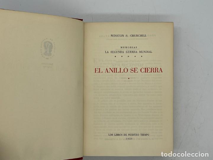 Libros de segunda mano: LIBRO DE WINSTON´S CHURCHILL MEMORIA EL AÑILLO SE CIERRA VOLUMEN V - Foto 2 - 282898883