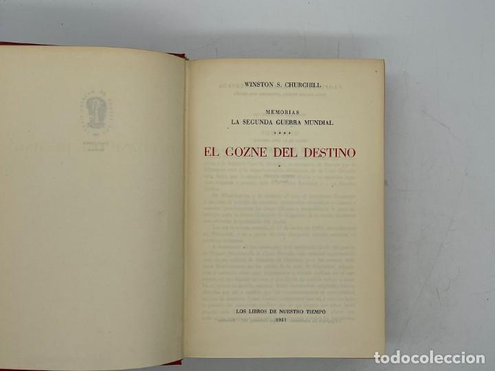 Libros de segunda mano: LIBRO DE WINSTON´S CHURCHILL MEMORIAS EL GOZNE DEL DESTINO VOLUMEN IV - Foto 2 - 282899438