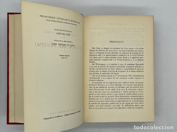 Libros de segunda mano: LIBRO DE WINSTON´S CHURCHILL MEMORIAS EL GOZNE DEL DESTINO VOLUMEN IV - Foto 5 - 282899438