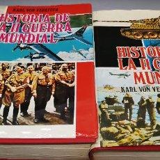Libros de segunda mano: HISTORIA DE LA II GUERRA MUNDIAL I Y II (1 Y 2, OBRA COMPLETA) - KARL VON VEREITER. Lote 287922443