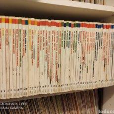 Libros de segunda mano: COLECCIÓN COMPLETA TECNOLOGÍA MILITAR ORBIS,60 GUÍAS,CAZAS PISTOLAS SUBMARINOS. Lote 295522488
