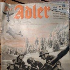 Libros de segunda mano: DER ADLER. REVISTA ALEMANIA. LUFTWAFFE. NOCHEBUENA. NÚM 26. 31 DICIEMBRE 1940.. Lote 295550408