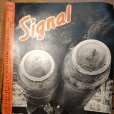 Libros de segunda mano: REVISTA SIGNAL NÚM. 3 FEBRERO 1941. BOMBAS ALEMANAS. SEGUNDA GUERRA MUNDIAL. ESPAÑOL/ALEMÁN. Lote 295553313