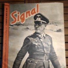 Libros de segunda mano: SIGNAL REVISTA ALEMAN/ ESPAÑOL. NÚM 10 2 NÚM MAYO 1941. ROMMEL. AFRIKACORPS.. Lote 295553363