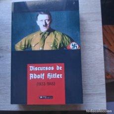 Libros de segunda mano: DISCURSOS 1933 - 1945 -OBRAS COMPLETAS ADOLF HITLER PARA CONOCER A HITLER EN CASTELLANO, ADOLFO. Lote 296839698