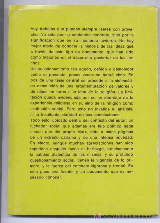 Libros de segunda mano: POR QUÉ CRÉE EN DIOS LA BURGUESÍA -Paul Lafargue- (Sociología, Religión, Marxismo). Envío: 2,50 € *. - Foto 2 - 26926656