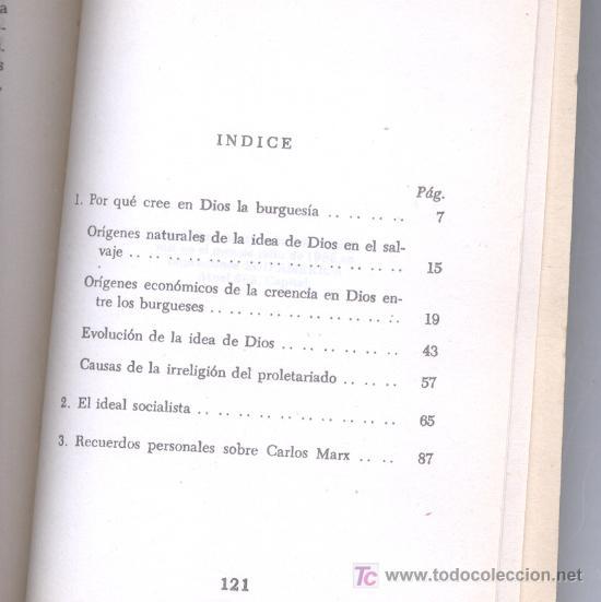 Libros de segunda mano: POR QUÉ CRÉE EN DIOS LA BURGUESÍA -Paul Lafargue- (Sociología, Religión, Marxismo). Envío: 2,50 € *. - Foto 3 - 26926656