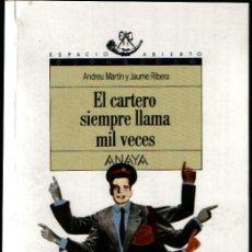 Libros de segunda mano: NOVELA EL CARTERO SIEMPRE LLAMA MIL VECES DE ANDREU MARTÍN Y JAUME RIBERA. Lote 6233755
