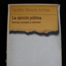 Libros de segunda mano: LA OPINION PUBLICA. CÁNDIDO MONZON ARRIBAS. TECNOS. 1987 205. Lote 18066586