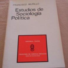 Libros de segunda mano: ESTUDIOS DE SOCIOLOGIA POLITICA - FRANCISCO MURILLO - COLECCION DE CIENCIAS SOCIALES.. Lote 109574943