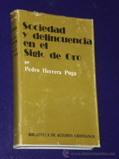 SOCIEDAD Y DELINCUENCIA EN EL SIGLO DE ORO. (Libros de Segunda Mano - Pensamiento - Sociología)