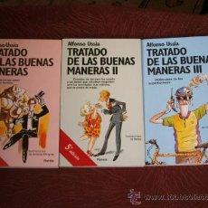 Libros de segunda mano: TRATADO DE LAS BUENAS MANERAS 3T POR ALFONSO USSÍA DE PLANETA EN BARCELONA 1995. Lote 26713330