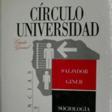 Libros de segunda mano: SOCIOLOGIA. GINER SALVADOR. 1988. Lote 27964503