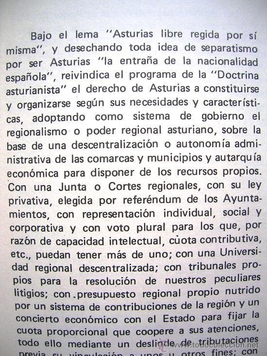 Libros de segunda mano: REGIONALISMO. DOCTRINA ASTURIANISTA. JUNTA DEL PRINCIPADO 1918. PROL. TUERO BERTRAND. GIJON, 1977. - Foto 4 - 28001346