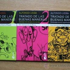 Libros de segunda mano: TRATADO DE LAS BUENAS MANERAS. ALFONSO USSÍA. CON ILLUSTRACIONES DE ANTONIO MINGOTE.. Lote 28370274