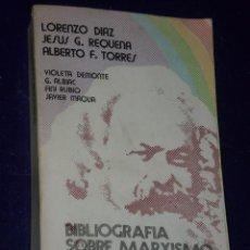 Libros de segunda mano: BIBLIOGRAFÍA SOBRE MARXISMO Y REVOLUCIÓN. . Lote 28635470