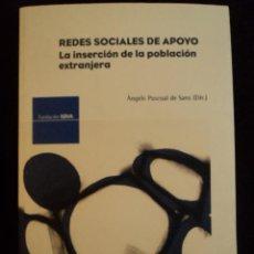 Libros de segunda mano: REDES SOCIALES DE APOYO.INSERCION POBLACION EXTRANJERA. PASCUAL DE SANS. FUND.BBVA 2007 318 PAG. Lote 29570907