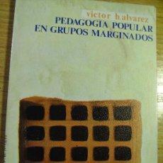 Libros de segunda mano: PEDAGOGÍA POPULAR EN GRUPOS MARGINADOS - VÍCTOR B. ÁLVAREZ ROJO. Lote 30793246