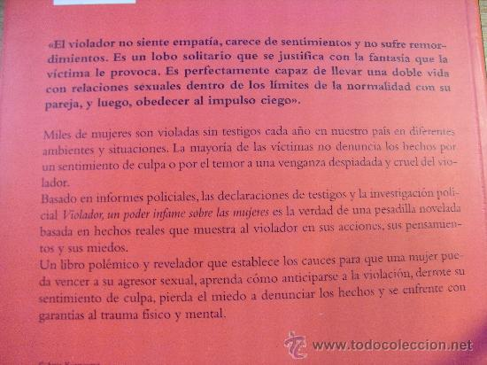 Libros de segunda mano: VIOLADOR , UN PODER INFAME SOBRE LAS MUJERES - perez abellan - Novelado - Foto 5 - 31396648