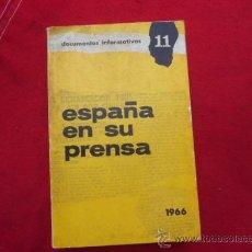 Libros de segunda mano: ESPAÑA EN SU PRENSA, 1966 DOCUMENTOS INFORMATIVOS 11. L 596. Lote 31756601