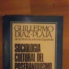 Libros de segunda mano: SOCIOLOGÍA CULTURAL DEL POSFRANQUISMO (BARCELONA 1979). Lote 32241993