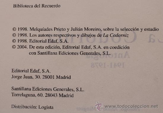 Libros de segunda mano: LA CODORNIZ LA REVISTA MAS AUDAZ PARA EL LECTOR MAS INTELIGENTE ANTOLOGIA 1941-1978 - Foto 5 - 53537494