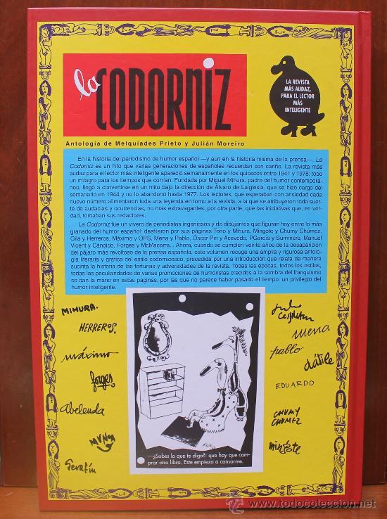 Libros de segunda mano: LA CODORNIZ LA REVISTA MAS AUDAZ PARA EL LECTOR MAS INTELIGENTE ANTOLOGIA 1941-1978 - Foto 6 - 53537494