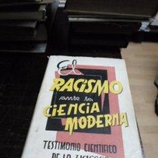 Libros de segunda mano: JOSE MARIA CASTAÑEDA, EL RACISMO ANTE LA CIENCIA MODERNA, UNESCO, 1961. Lote 34355719