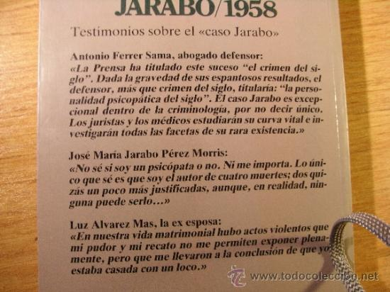 Libros de segunda mano: JARABO 1958. Vida y muerte de un famoso criminal español - F Pérez Abellan - Foto 3 - 36961765