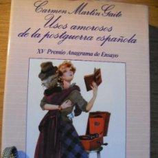 Libros de segunda mano: USOS AMOROSOS DE LA POSTGUERRA ESPAÑOLA - MARTIN GAITE. Lote 37411518