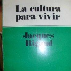 Libros de segunda mano: LA CULTURA PARA VIVIR (BUENOS AIRES, 1977). Lote 37159059