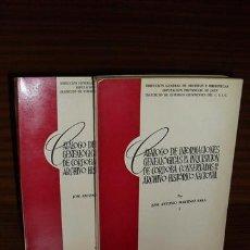 Libros de segunda mano: CATÁLOGO DE INFORMACIONES GENEALÓGICAS DE LA INQUISICIÓN DE CÓRDOBA CONSERVADAS EN EL ARCHIVO HISTÓR. Lote 37202432
