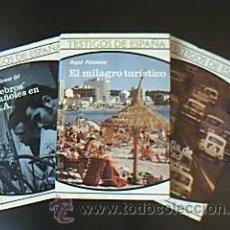 Libros de segunda mano: RADIOGRAFÍA DE UNA SOCIEDAD PROMOCIONADA / EL MILAGRO TURÍSTICO / CEREBROS ESPAÑOLES EN U.S.A. Lote 29471649