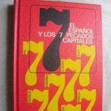 Libros de segunda mano: EL ESPAÑOL Y LOS 7 PECADOS CAPITALES. DÍAZ-PLAJA, FERNANDO. 1969. Lote 38452609