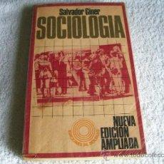 Libros de segunda mano: SOCIOLOGIA SALVADOR GINER. ED. PENÍNSULA. (PSICOLOGÍA BS3). Lote 38577292