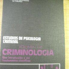 Libros de segunda mano: CRIMINOLOGIA - UNA INTRODUCCION A SUS FUNDAMENTOS CIENTIFICOS - GÜNTHER KAISER. Lote 38832521