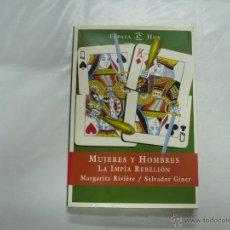 Libros de segunda mano: MUJERES Y HOMBRES. LA IMPIA RELIGION. MARGARITA RIVIERE / SALVADOR GINER. ESPASA HOY 1999. TDK62. Lote 39651009