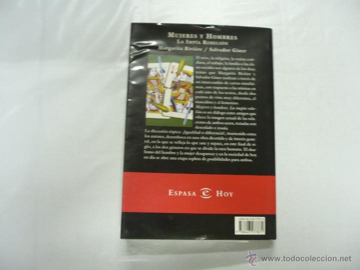 Libros de segunda mano: MUJERES Y HOMBRES. LA IMPIA RELIGION. MARGARITA RIVIERE / SALVADOR GINER. ESPASA HOY 1999. TDK62 - Foto 2 - 39651009