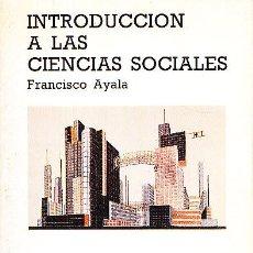 Libros de segunda mano: INTRODUCCION A LAS CIENCIAS SOCIALES. Lote 40418446