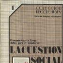 Libros de segunda mano: LA CUESTIÓN SOCIAL. FERNANDO GARCÍA ARENAL. SILVERIO CAÑADA EDITOR. GIJÓN. 1980. Lote 41038809