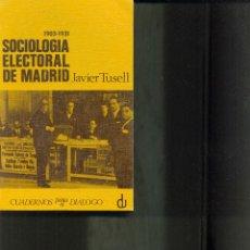 Libros de segunda mano: SOCIOLOGIA ELECTORAL DE MADRID. AÑO 1969 JAVIER TUSELL. Lote 41115737