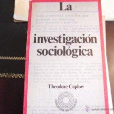 Second hand books - La investigación sociológica. T. Caplow. - 41623109