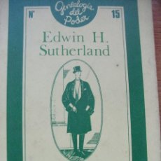 Libros de segunda mano: LADRONES PROFESIONALES - EDWIN H SUTHERLAND. Lote 43043421