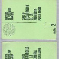 Libros de segunda mano: CURSO DE DESARROLLO DE LA MEMORIA - INSTITUTO DE PSICOLOGIA PRACTICA - L. W. RANDOR - 6 LIBRITOS . Lote 43262090