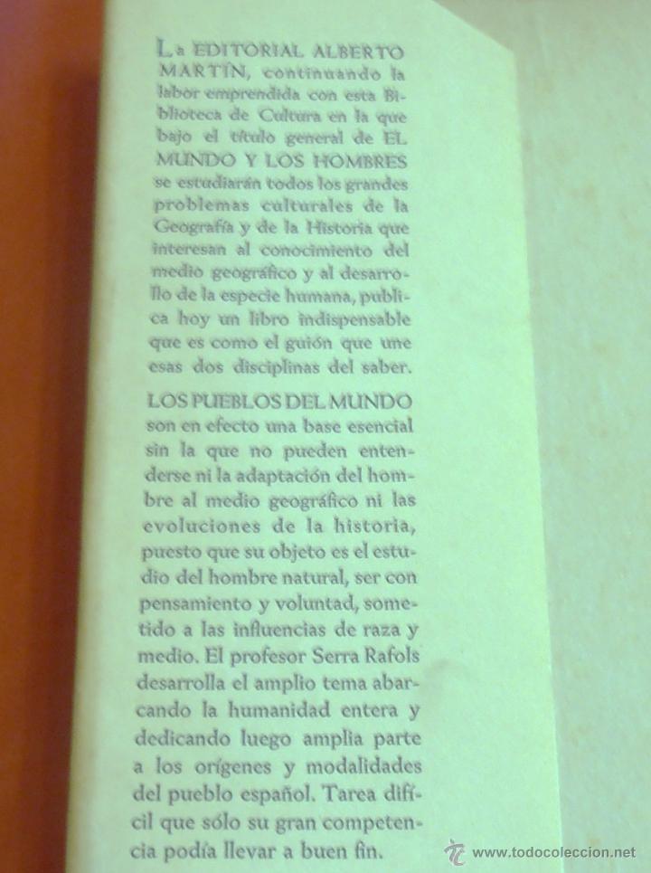 Libros de segunda mano: LOS PUEBLOS DE LA TIERRA, POR J. DE C. SERRA RAFOLS - Foto 2 - 43391900